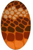 rug #715277 | oval red-orange circles rug
