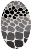 rug #715289 | oval white retro rug