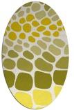 rug #715293 | oval white circles rug