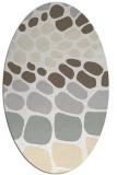 rug #715301 | oval white retro rug