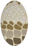 rug #715309 | oval yellow circles rug