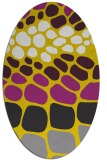 rug #715317 | oval yellow circles rug