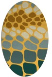rug #715321 | oval light-orange retro rug