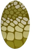 rug #715337 | oval light-green rug