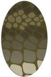 rug #715349   oval light-green rug