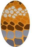 rug #715365   oval light-orange retro rug