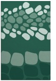 rug #715425 |  blue-green circles rug