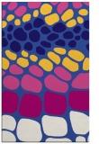 rug #715473 |  blue-violet circles rug