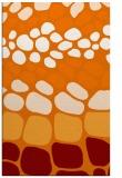 rug #715561 |  orange circles rug