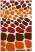 rug #715637 |  red-orange retro rug
