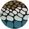 rug #715741 | round mid-brown circles rug