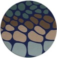 rug #715753 | round blue circles rug