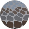 rug #715833 | round blue-violet rug