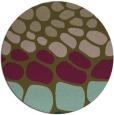 rug #715841   round brown retro rug