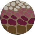 rug #715873 | round mid-brown circles rug