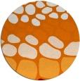 rug #715913 | round orange circles rug