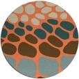 rug #715917 | round beige retro rug
