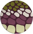 rug #715949 | round green circles rug