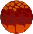 rug #715965 | round red retro rug