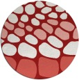 rug #715969 | round red rug