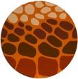 rug #715981 | round red-orange circles rug