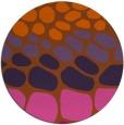 rug #715985 | round red-orange circles rug