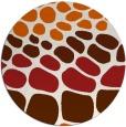 rug #715989 | round red-orange retro rug