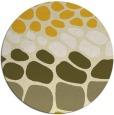 rug #716009 | round yellow circles rug