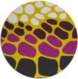 rug #716021 | round yellow circles rug