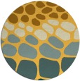 rug #716025 | round yellow circles rug