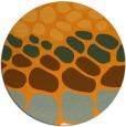 rug #716065 | round light-orange retro rug