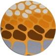 rug #716069 | round light-orange retro rug
