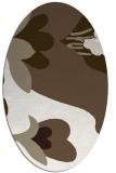 rug #718537 | oval beige graphic rug