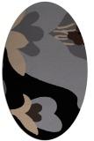 rug #718549 | oval beige natural rug