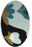 rug #718557 | oval brown graphic rug