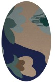 rug #718569 | oval blue graphic rug