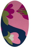 rug #718573 | oval blue graphic rug