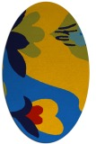 rug #718705 | oval blue graphic rug