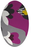 rug #718721 | oval graphic rug