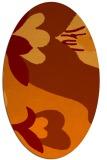 rug #718725 | oval red-orange natural rug