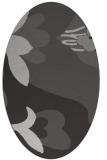 rug #718737 | oval orange popular rug
