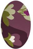 rug #718765   oval purple graphic rug
