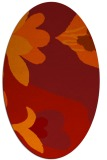 rug #718781 | oval red graphic rug