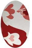 rug #718785 | oval red graphic rug