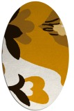 rug #718833 | oval brown graphic rug