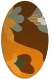 rug #718881 | oval light-orange graphic rug