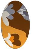 rug #718885 | oval light-orange graphic rug