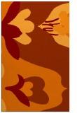 rug #719077 |  orange graphic rug