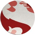 rug #719489 | round red graphic rug