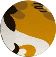 rug #719537 | round brown graphic rug